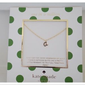 "NWT Kate Spade One In A Million ""A"" Necklace"